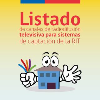Listado de canales de radiodifusión televisiva para sistemas de captación de la RIT