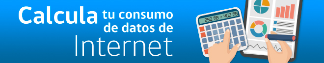 Calcula tu consumo de datos de Internet