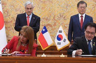 Gobiernos de Chile y Corea del Sur firman acuerdos de cooperación mutua en transportes y telecomunicaciones