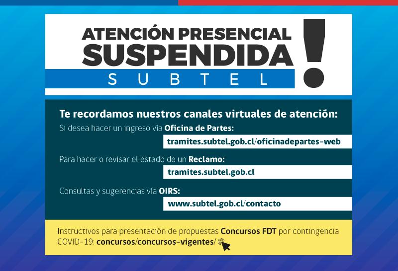 Atención Presencial Suspendida